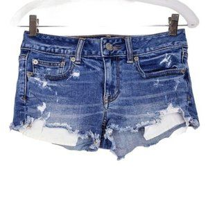 American Eagle Shortie Distressed Jean Shorts 2
